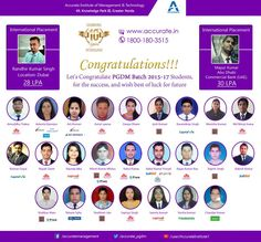 Let's Congratulate #PGDM Batch 2015-17#Students, for the #success, and wish best of luck for future. #Accurate