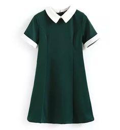 School Girl Collared Mini Dress