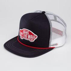 3c27b645d0c50 Vans classic patch trucker hat in black with white mesh Vans Classic