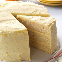 Lemon Orange Cake Recipe - Substitute Butter for Shortening...so much healthier...otherwise, sadly you are eating a transfat which clogs arteries and causes cancer.