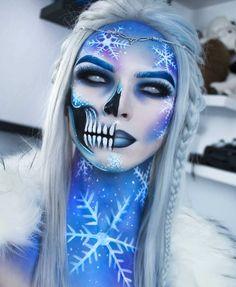 Zorin blitzz-IG – Halloween Make Up Ideas Amazing Halloween Makeup, Halloween Looks, Halloween Face Makeup, Frozen Halloween, Halloween Skull, Halloween Ideas, Fx Makeup, Skull Makeup, Beauty Makeup