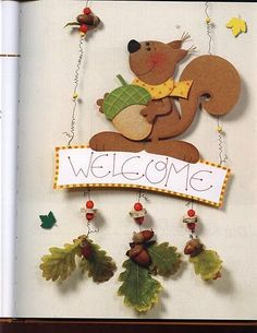 Handicrafts with natural materials Craft ideas Na Autumn Crafts, Autumn Art, Diy And Crafts, Arts And Crafts, Paper Crafts, Diy For Kids, Crafts For Kids, Fall Preschool Activities, Fall Clip Art