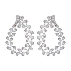 Luminance Front Hoop earrings in 18k white gold and diamonds.