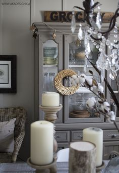 AKA Design fall dining room hutch