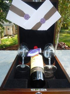 LOVE this idea! Write your vows and place them in a box along with a bottle of wine from your special day! Open during a tough time or for an anniversary.