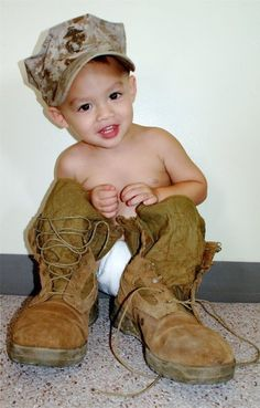 Daddy's boots!