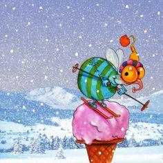 Pinzellades al món: il·lustracions d'hivern