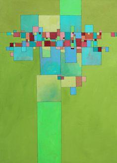 "Saatchi Online Artist: Deborah Batt;  ""Community 2-2"" acrylic on canvas 30x40x1 in"