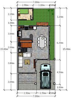 Modern 10 - House Designer and Builder Movement In Architecture, Architecture Magazines, Architecture Plan, Small House Floor Plans, My House Plans, House Layout Plans, House Layouts, Duplex House Design, Modern House Design