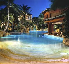 Everyone loves luxury swimming pool designs, aren't they? We love to watch luxurious swimming pool pictures because they are very pleasing to our eyes. Now, check out these luxury swimming pool designs. Luxury Swimming Pools, Luxury Pools, Indoor Swimming Pools, Dream Pools, Lap Swimming, Amazing Swimming Pools, Night Swimming, Swimming Pool Pictures, Swimming Pool Designs