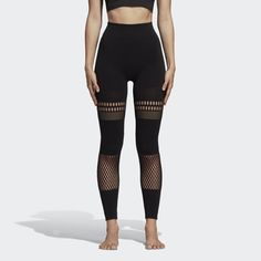 Adidas by Stella McCartney Yoga Warpknit Tights Black CY4556 Fitness Wear  Women c406d47ceca