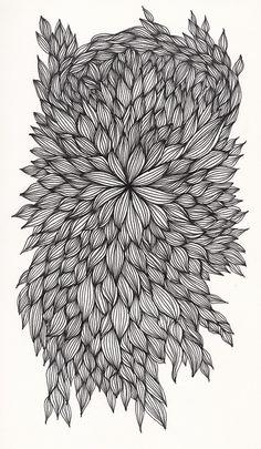 #58 Zentangle - an overgrown flower maybe?