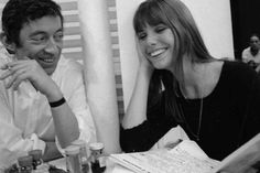 Awesome people reading, Jane Birkin reading and laughing