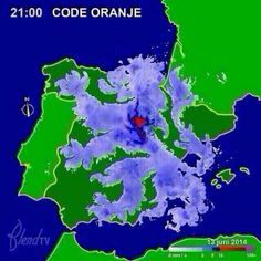 WK 2014, vrijdag 13 juni. Nederland - Spanje  Weerbericht: waarschuwing voor Spanje voor code Oranje. Zwaar weer wordt verwacht! :)