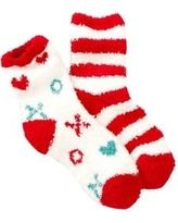 Free Press Pattern Fuzzy Socks - Pack of 2 at Nordstrom Rack - Womens Intimate Apparel - Womens Hosi