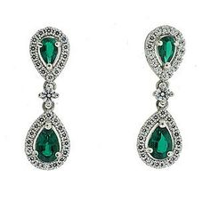 Lab Created Emerald Earring
