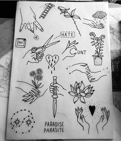 tattoo flash sheet