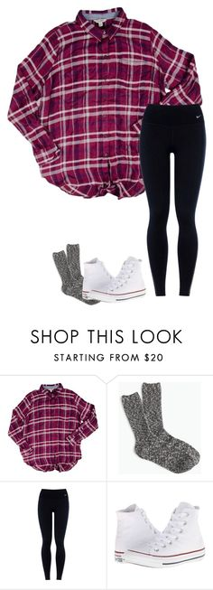 """Untitled #362"" by annakhowton ❤ liked on Polyvore featuring Lucky Brand, J.Crew, NIKE and Converse"