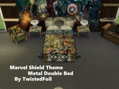 Marvel Shield Themed Bed at TwistedFoil via Sims 4 Updates