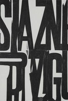 jonasgrossmann:  william klein… lettrist painting for mural, 1963 @howardgreenberg