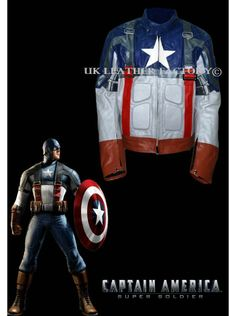 $215-MEGA SALE on custom made 100% pure leather costumes - Captain America The First Avenger Chris Evans hollywood celebrity leather costumes. Money back guarantee. Near perfect designing in blue white. Durability supreme. Fit for parties and motorbike adventures.
