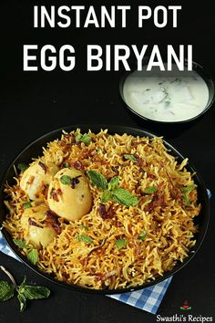 Do you love quick & super easy Instant pot meals? Make a flavorful and delicious Egg biryani in your Instant pot with this recipe. Egg Recipes For Lunch, Veg Recipes, Spicy Recipes, Healthy Recipes, Healthy Food, Cooking Recipes, Yummy Recipes, Vegetarian Recipes, Strudel