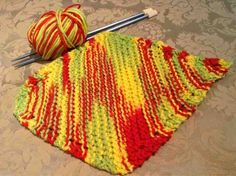 Julie's Lifestyle: Grandma's Favorite Knit Dishcloth