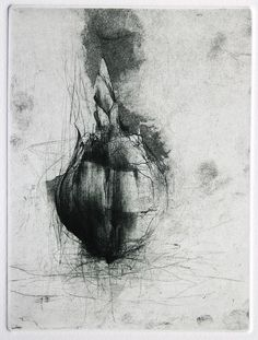 Jake Muirhead, 'Bulb', soft-ground etching, aquatint and drypoint