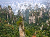 """15 Places You Won't Believe Exist - Condé Nast Traveler. Zhangjiajie National Forest Park was the first authorized national forest park in China. Do the towering pillar-like mountains of this national forest look familiar? This park was used as a prototype for the landscape in James Cameron's Avatar. The Chinese government was so taken with this cameo that they renamed the """"Southern Sky Column"""" of Zhangjiajie """"Avatar Hallelujah Mountain"""" in 2010. —Hadley Keller"""