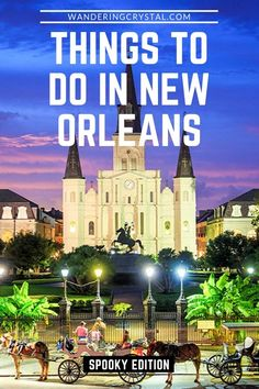 New Orleans is your destination for haunted, spooky and downright dark history. Check out the ultimate spooky city guide to New Orleans USA. Looking for something to do this Halloween? New Orleans is the land of the supernatural, creepy and frightful attractions! Check out the guide for all your spooky needs! wanderingcrystal, the best ghost tours in New Orleans, voodoo in New Orleans, spooky things to do in New Orleans, haunted French Quarter NOLA #NewOrleans #Halloween #Spooky