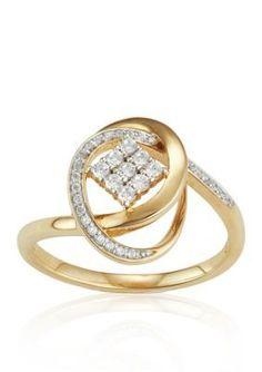 Belk  Co.  Diamond Ring in 10k Yellow Gold