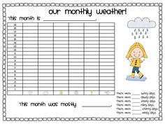 FREE weather and temperature bar graphs!