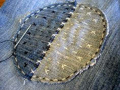Make interesting shaped patches to repair clothing & keep it wearable.  Moon patch pictured