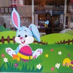 1000 images about peinture sur vitrine on pinterest decoration coupe and logos - Decoration paques vitrine ...