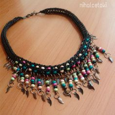 ahşap boncuklu kolye #bohem #takı #kolye #necklace