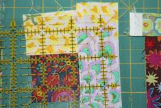 "As a result of cutting lots of 2 1/2"" strips, I've accumulated lots of ""strings"" along the way.  You know -- those narrow little pieces tha..."