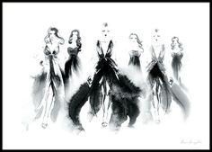 Poster mit Fashion-Motiv, Frauen vom Catwalk