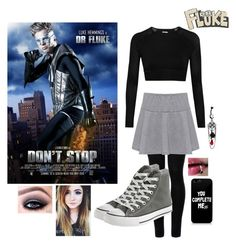 """""""Lucy Hemmings: Don't Stop"""" by alexfabulouskilljoys ❤ liked on Polyvore featuring Ivy Park, Wolford, WearAll and Converse"""
