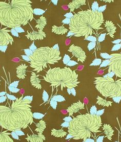 Amy Butler Chrysanthemum Olive 8.15