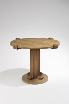 Jean-Charles Moreux - Gueridon in solid sanded and limed oak, circa 1935-1936