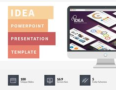 """Check out new work on my @Behance portfolio: """"Idea Flat PowerPoint Presentation Template"""" http://on.be.net/1D3m2qz"""