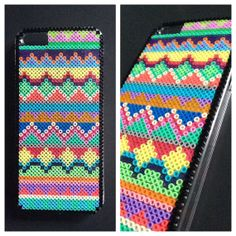 Hard case plastic cover decorated with mini Hama beads for Iphone 5/5s by BlackChameleon