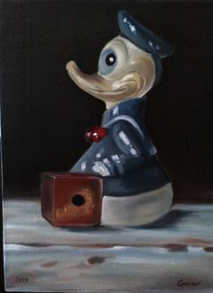 Donald Duck  Oil painting by Canan can