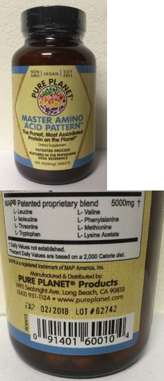 Health And Fitness: (New) Pure Planet Master Amino Acid Pattern 100 Tablets 1000Mg BUY IT NOW ONLY: $40.99
