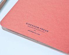 "Zakka Sideshow 6x9"" 20 leaves blank brown notebook $14"