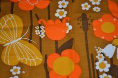 Scandinavian floral vintage fabric  by Scandinaviavandesign, kr120.00