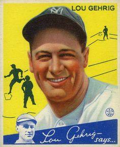 Lou Gehrig  Goudey (1934)