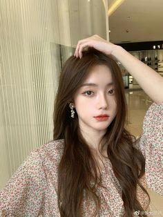 Pretty Korean Girls, Korean Beauty Girls, Cute Korean Girl, Asian Beauty, Asian Girl, Ulzzang Hair, Ulzzang Korean Girl, Makeup Korean Style, Light Makeup Looks
