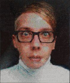 Portraits made by injecting bubble wrap with paint. By artist Bradley Hart.<<< imagine popping the bubble wrap after the painting is finished! Bubble Wrap Art, Bubble Pack, 10 Picture, Recycled Art, Recycled Materials, Make Art, Medium Art, Art Techniques, Creative Art