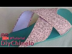 Shoe Makeover, Decorating Flip Flops, Shoemaking, Embroidery, Sewing, Youtube, Diy, Videos, Fabric Flip Flops